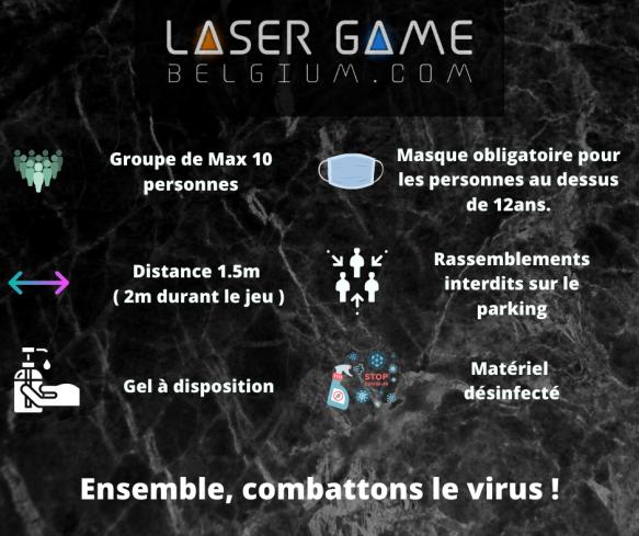 consignes corona laser game